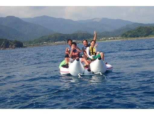 【高知・土佐清水】バナナボートで行く プレミアムビーチでゆったりシュノーケル