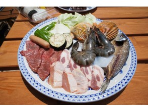 [Kochi-Tosashimizu] with a guide, safe! Go by boat Seafood on premium beach BBQ Snorkeling comfortably