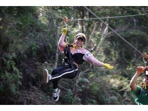新登場‼【北部東村】★空中から見下ろそう!!やんばる森ターザンロープジップライン体験★
