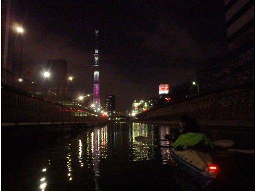 【東京】秋の夕焼け&夜景・東京水路スカイツリー運河カヌーカヤック☆トワイライトクルーズ☆接近コース