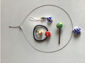 【女性やお子様に人気】プチミレフィオリ ガラスのアクセサリー作り体験