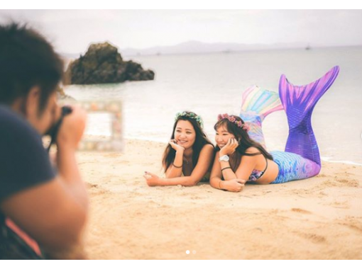 【沖縄・北部ビーチ】女子旅やお子様との思い出に!沖縄の綺麗なビーチでマーメイド体験