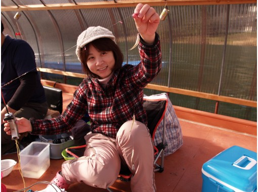【長野・木崎湖】ご家族で楽しめる「ワカサギ釣り」手ぶらでOK!道具一式込みのお手軽パック(3時間)