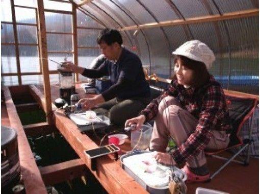 【長野・木崎湖】団体様におすすめ!ワカサギ釣りお得なドーム貸切プラン(ドーム1台定員17名)