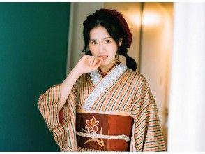HIS Super Summer Sale in progress [Kyoto / Kiyomizudera] Retro / Modern / Pure Silk Kimono, Houmongi Rental (Free obi decoration, with Japanese-style petit gift)