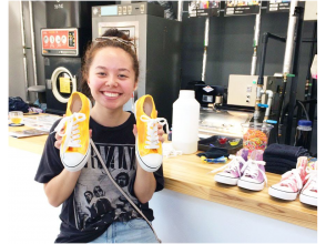 [Hiroshima/ Fukuyama] Somerabo is like a three-dimensional coloring book! Shoes Textile dyeing experience