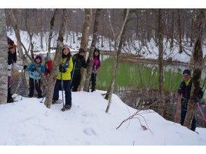 【福島・裏磐梯・午後の部】少人数制で安心!雪原に緑が映える神秘の五色沼 スノーシューツアー(レンタル代込)