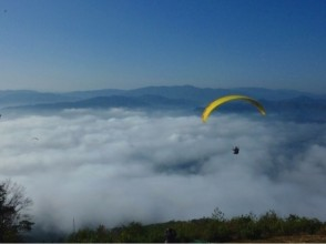 【Kyoto · Kameoka】 Free pick up available! Image of paraglider experience (Petit Challenge + 470 m tandem course)