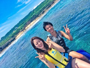 Regional common coupons can be used ♪ [Okinawa / Kouri Island] Experience with a secure charter for each group! Our most popular! Kouri Island Round Plan with Jet ski