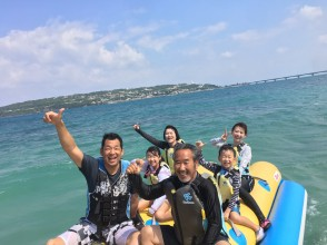 Regional common coupons are available ♪ [Okinawa / Kouri Island] We will guide you with a secure charter for each group! Our most popular! Plan around Kouri Island by banana boat