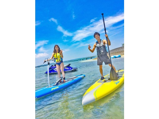 Regional common coupons can be used ♪ [Okinawa / Kouri Island / SUP] Experience with a secure charter for each group! Experience a new sensation sap! Paddle sap Rental 30 minutes ♪の紹介画像