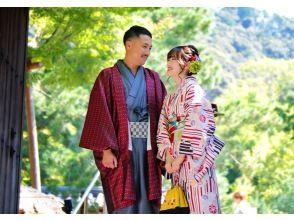 京都 四条 着物レンタル『カップルプラン+写真撮影』ふたりの思い出になる写真アルバムをプレゼント♪