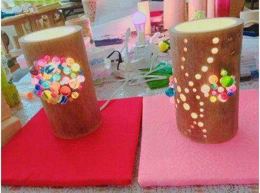 【鳥取・湯梨浜町】お子さま・女性に人気!竹灯籠をビー玉・ビーズなどでデコレーション
