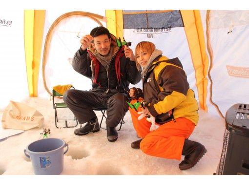 【札幌開催】手ぶらでお手軽ちょこっと氷上ワカサギ釣り★防寒ズボン&長靴もレンタル無料!