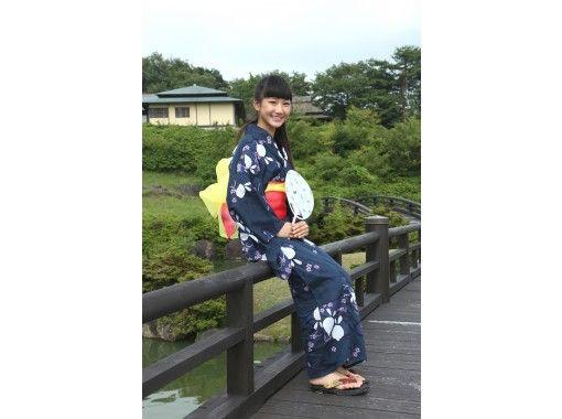 【広島・神石高原】天空の日本庭園「東林苑」を着物で散策プラン(着物または浴衣レンタル・抹茶付) | 男性用着物もあります
