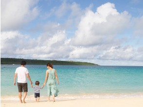 [Okinawa-Miyakojima] sandy beach photo is said to be the East