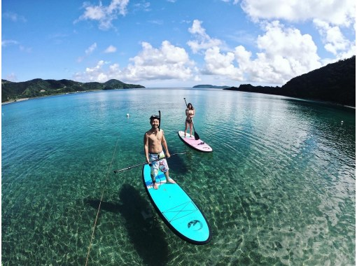 A luxurious tour where you can enjoy Amami's popular marine Activity SUP experience and board snorkel at the same timeの紹介画像