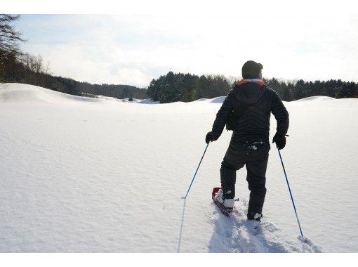 【札幌近郊・長沼】マオイの広大な丘で雪を踏みしめる・プライベートスノーシュートレッキング体験(約90分)の紹介画像