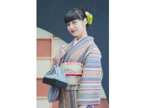 """Kyoto Gion Kimono Rental ☆ New ☆ 90 minutes limited """"Short-time rental version"""" Standard plan Recommended for couples and women!"""