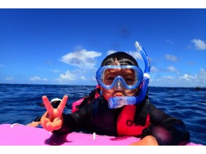 [For beginners only! Blue cave Snorkel by boat] Onna Village, Okinawa Prefecture! Free transfer available!