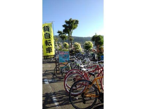 レンタル自転車で山中湖一周