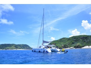 [Okinawa main island, Itoman (southern) departure ~] Kerama Islands 7 hours a day Yacht charter (55 feet catamaran), enjoy all the marine in the sea of Okinawa.