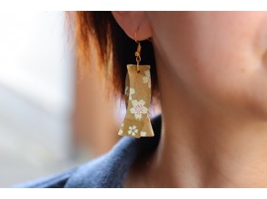 [Gifu / Mino] Recommended for girls traveling! Fashionable Mino Japanese paper earrings handmade experience! [Free service] Gachapon 1 time Original Japanese miscellaneous goods Gacha