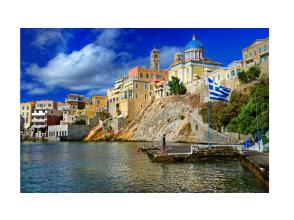 【おうち海外旅行】ギリシャ シロス島内散策&古民家訪問体験 冬はこたつでぬくぬくオンライン海外旅行♪