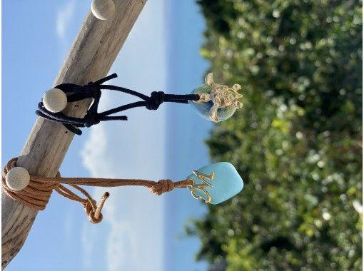 【沖縄・本部・美ら海エリア】陶器やちむん「沖縄の海」アクセサリー作り体験【キーホルダー】約20分