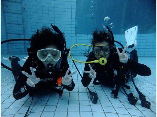 【千葉県・浦安・船橋・千葉】のんびりプールで体験ダイビング(水中は別世界)記念写真付