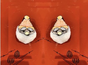 """[Kyoto / Karasuma Oike] Experience making cute decorative sushi """"Santa Claus"""" * Beginners and foreigners are also welcome ♪"""