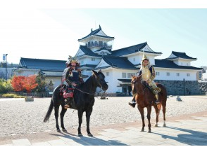 【Toyama・Toyama City】 Armor × Horse × Castle! Anyone Can Transform Into Samurai! Photoshoot with Castle in the Background
