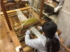 [Kyoto * For preschoolers] Parent-child weaving (hand-weaving) experience & workshop tour-Experience the highest peak of Nishiki traditional textiles, fine arts and history