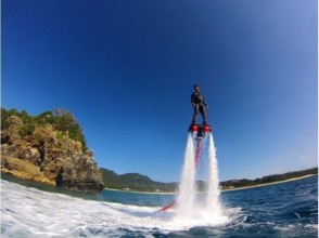 【Okinawa · Northern Area / Nago / Headquarters / Sesoko Island】 The best marine activity! Image of fly board experience (30 minutes)