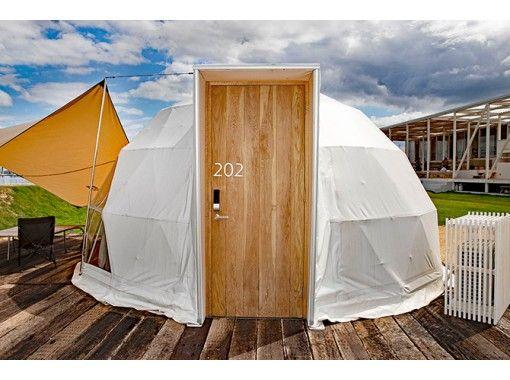 【愛媛・しまなみ】ちょっぴりキャンプ気分!ドームテントでグランピング&多々羅大橋ショートクルージングの紹介画像