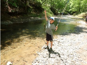 【北海道】渓流釣り・初心者OK・自然の川で魚釣り・その場で塩焼きも可能