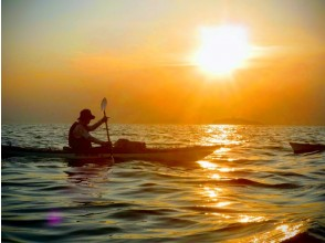 Zushi Beach, Kanagawa Prefecture [At the end of the day] Enjoy the finest sunset on board! Sea kayaking sunset course