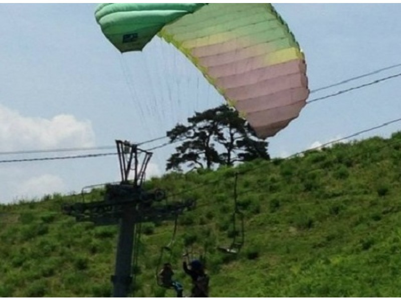 [Hyogo Prefecture / Kannabe] Save with your family! A leisurely 1-day Paragliding family plan! (3 to 4 more family members)の紹介画像