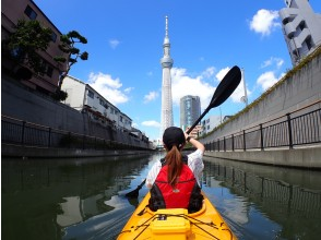 """[Tokyo / Edogawa] Let's aim for the Sky Tree by Kayak """"Tokyo Waterway Kayak Tour (half-day: Course A)"""""""