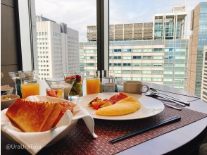 I know the weekend morning office district! ?? Elegant breakfast 120m above the ground in the morning in the city center ♪ [Morning activity cycling]