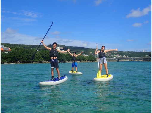[Okinawa / Southern] Beginners are welcome! Participation is possible from 3 years old! Guided SUP tour on a calm natural beachの紹介画像