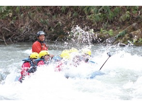 [Nisecola Rafting] Spring only ♪ Enjoy the thrilling torrent! !! 《Plan with hot spring ticket》