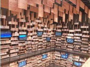 """不要錯過""""書架劇院"""",這是一個被巨大書架包圍的書空間! """"角川武藏野博物館""""&Mettsa鄉村遊巴士之旅[3緻密措施] [P016915]"""