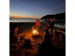 [神奈川县/羽山市]一色海岸的篝火和咖啡♪3小时租赁计划(一套)♪