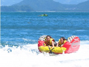 Thrilling banana boat & half pipe + seafood barbecue with seaside house