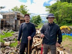 【秋田県・鹿角市】森の住人LumberJack(木こり)体験・自分で割った薪で新鮮野菜の農家めしBBQ付