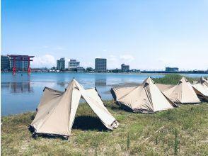 【静岡・浜名湖】1グループ『10,000円』駅から5分!無人島ビーチBBQデイキャンプ!(飲食材持込)