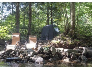 [Appi Kogen, Iwate Prefecture] It is said that it is the best in a completely reserved natural water bath (river)! MORZH tent sauna 1 rent-with hot spring bathing ticket-