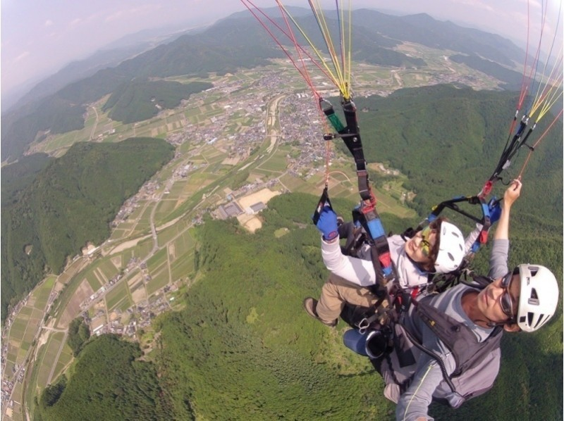 [Hyogo Tamba] introduction image of paragliding experience (tandem flight course)
