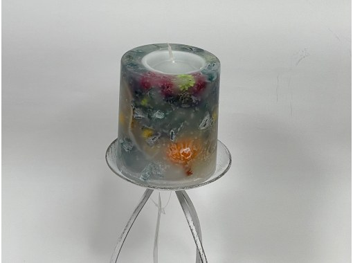 [From Miyagi / Sendai] Let's make the only botanical candle (L size: about 8.5 cm in diameter) in the world with your favorite flower material (preserved flower)!の紹介画像